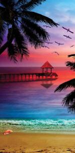 30x60 Large Velour Paradise Sunset Cruise Vacation Pool Gift Bath Beach Towel