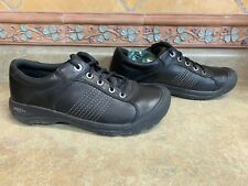 Mens Sz 10/43 Keen Black Leather Lace Up Shoes Great