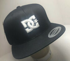 MENS DC SHOES SNAPBACK CAP ADJUSTABLE BLACK HAT ONE SIZE New With Tags