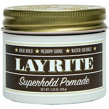 Layrite Superhold Pomade 120g | Strong Hold Styling Pomade