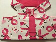 Breast Cancer Awareness Print Dog handmade Harness Size XL (288)