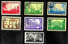 Russia #1481-87, used -1950- Moscow Metro - Complete Set