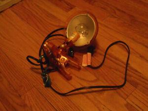 Clip - On Orange Light Lamp