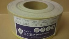P120 Hook & Loop Abrasive Roll  75mm x 25m   Can be cut for strips  Eagle Brand