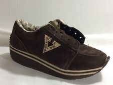 Volatile Animation Girls size 4 Youth Platform Sneaker Shoes Brown Suede Leather