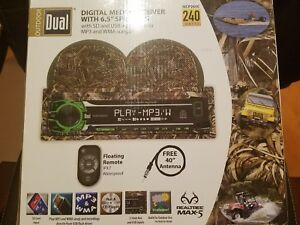 Outdoor Dual Digital Media Receiver with Speakers Real Tree MAX - 5 Brand New!