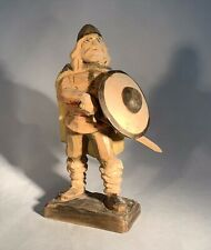 Henning Viking w/Axe and Shield-Norway-Hand Carved-7.5""