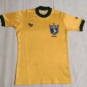 9/10 Brazil 1982 Topper World Cup Spain Shirt Jersey Football Brazil Zico era