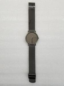 SKAGEN SIGNATUR GREY DIAL TITANIUM CASE MESH STRAP MEN'S WATCH SKW6354 PRE-OWNED
