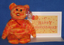 TY MC MASTERCARD ANNIVERSARY #7 BEAR with CARD - MINT with MINT TAGS
