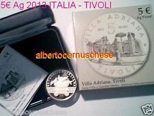 5 euro Italia 2013 Ag proof BE PP Fs TIVOLI Adriana Italie Italy Italien Италия