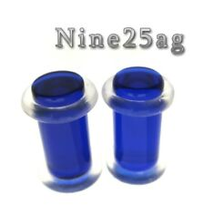 PAIR BLUE 4G (5MM) PLUGS 1/2 INCH WITH O RINGS
