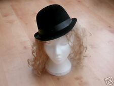 BLACK FLOCK BOWLER HAT CHAPLIN 20S CHICAGO DANCE 1920S COSTUME NEW