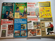 Vintage Electronics Magazines Lot Of 9 1960's Popular Electronics Handbooks