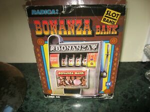 BONANZA SLOT MACHINE BANK ORIGINAL BOX VINTAGE
