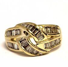 14k yellow gold .71ct VSH  womens baguette diamond wedding band 6.8g estate ring