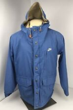 80's VTG NIKE Columbia Collaboration Zip Leather Accents HOODED L Jacket LAB acg