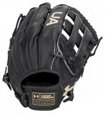 "Under Armour Baseball Flawless 12.75"" Outfield Glove Mitt H-Web (Black LHT)"