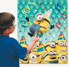 "Lot Of 2 Minions Despicable Me - Party Games ""Pin The Hat On The Minion"" New"