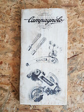 Cycling wood print, Campagnolo SR group, vintage style poster, retro ads