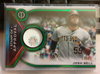 2021 Topps Tribute Baseball JOSH BELL Green Relic Card # 38/99 - PIRATES