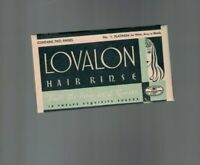 Lovalon Hair Rinse #1 Platinum 1930s Art Deco Unused