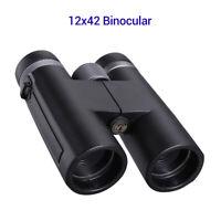12x42 Optics Zoom HD Binocular Telescope Waterproof For Camping Hiking Hunting