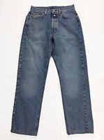 Replay jeans w33 tg 47 gamba dritta boyfriend blu azzurro vintage usato man T237