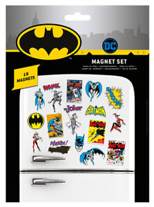 DC COMICS (BATMAN RETRO) MAGNET SET *OFFICIAL FAST UK DISPATCH