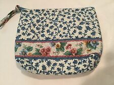 NWOT VERA BRADLEY RETIRED VINTAGE PATTERN BLUE DELFT SMALL COSMETIC CASE