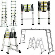 En131 Telescopic Extension Aluminum Step Ladder Folding Multi Purpose 150kg