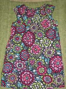 HANNA ANDERSSON Whimsical Floral Shift Sundress Summer Dress 150 Girls 12-14