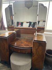 More details for antique walnut burr art deco dressing table - good condition