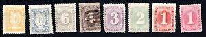 Liberia 1886-99 set of stamps Mi#18-24 used/MNG/MH CV=35€