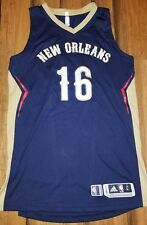 NBA 2015-2016 New Orleans Pelicans Game Worn Jersey Size Large +2 Toney Douglas