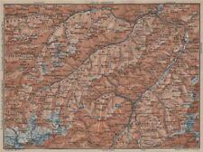 SAMNAUNGRUPPE VERWALLGRUPPE Paznauntal Oberinntal St Anton Ischgl 1927 old map