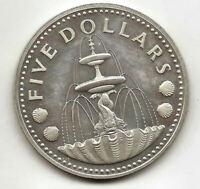 Barbados 5 Dolares 1974 @ PROOF @
