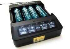 Xtar VP4 - Ladegerät für Li-Ion Akkus incl. KFZ Adapter