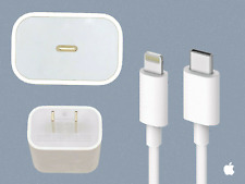 ORIGINAL APPLE 18W Fast Charger & USB-C Lightning Cable iPhone 11 / Pro / Max