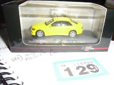 high speed 1:64 toyota altezza yellow boxed