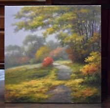Original Oil Painting by Jean P / Stretched  /signed