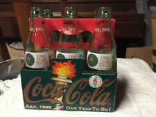 Vintage Coca Cola 6 Pack Olympic Coke Bottles With Box 1995 One Year to Go