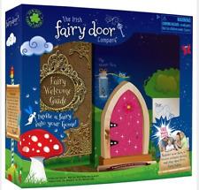 The Irish Fairy Door Company Dark Pink Sparkly Arched Door