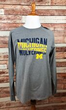 Michigan Wolverines LARGE, Gray Champion Long Sleeve T-Shirt