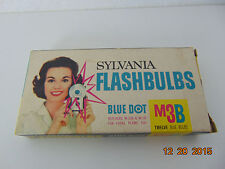 Old VIntage Sylvania Blue Dot Camera Flashbulbs M3B 12 Bulbs & Box Complete Set