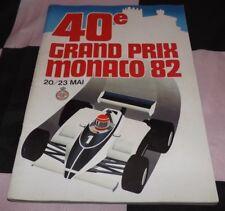 1982 40th MONACO MONTE CARLO GP F1 RACE PROGRAMME PROGRAM PATRESE WIN VILLENEUVE
