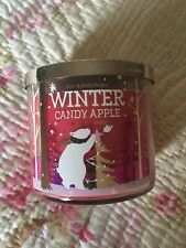 Bath And Body Works Candle ~ Winter Candy Apple ~ Polar Bear Label ~