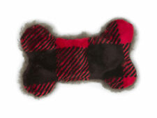 West Paw Tiny Merry Red Checker Bone Plush Toy for Dogs
