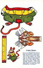 Postcard Paper Doll Toys Cut Out Comic Mouse~107959