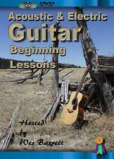 GUITAR INSTRUCTION DVD VIDEO FOR BEGINNER ACOUSTIC & ELECTRIC GUITAR LESSONS